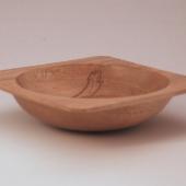 Square ambrosia maple bowl