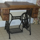 Rebuilt and restored sewing machine cabinet