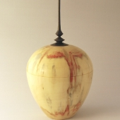 Lidded box elder hollow form
