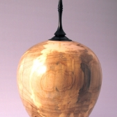 Lidded maple hollow form