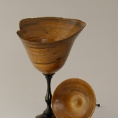 Walnut lidded box